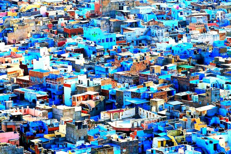 Colourful places on Earth