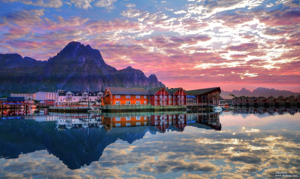 View of Svolvaer from Norway in pictures