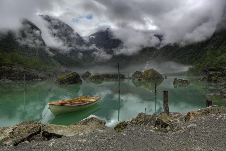 Lake Bondhus at Odda from Norway in pictures