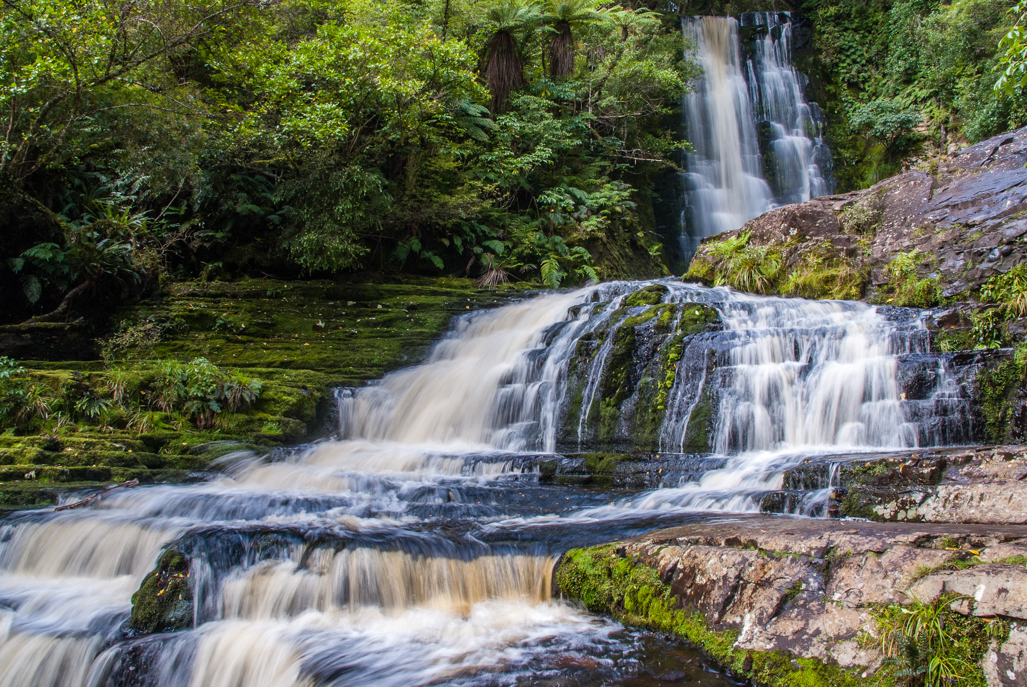 McLean Falls, Catlins Forest Park, Southland, New Zealand