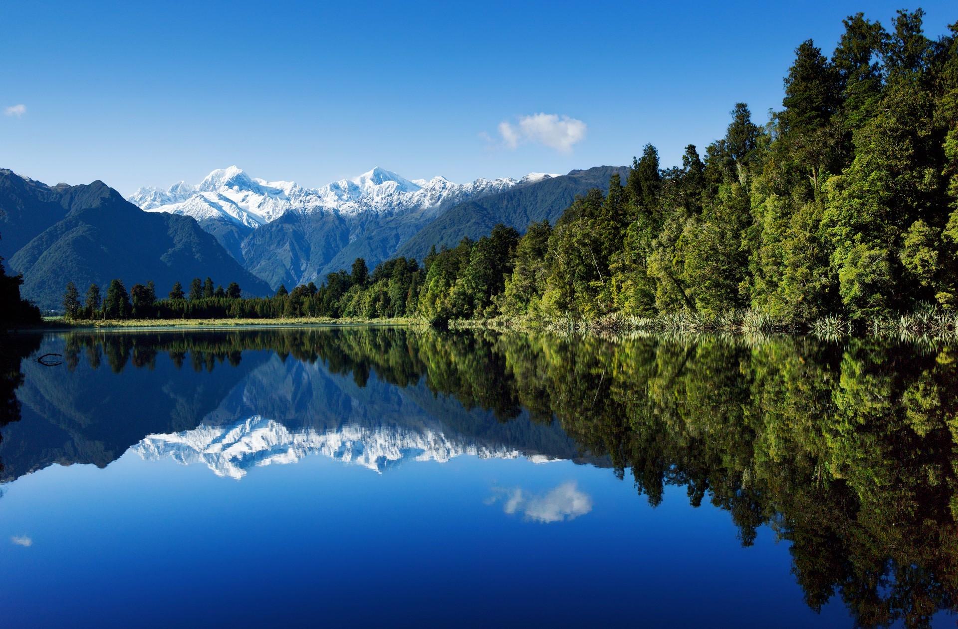 Beautiful mirror lake