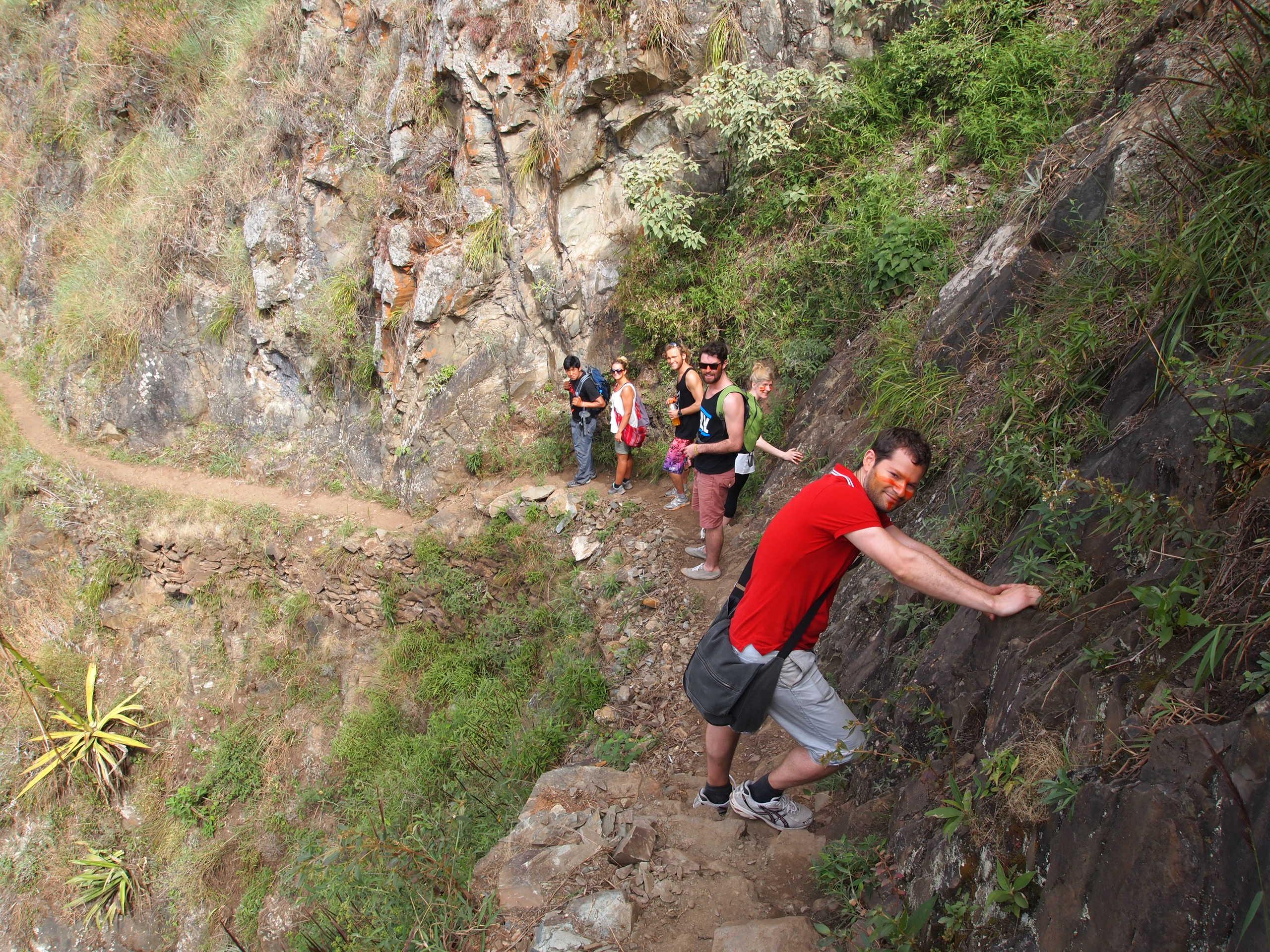 More steep, narrow trail...