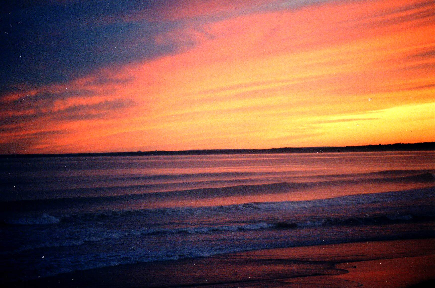 Pink Sunset over the Ocean
