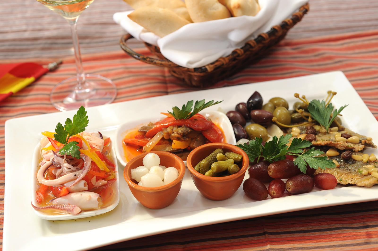 A dish at a tapas bar from tapas in Spain