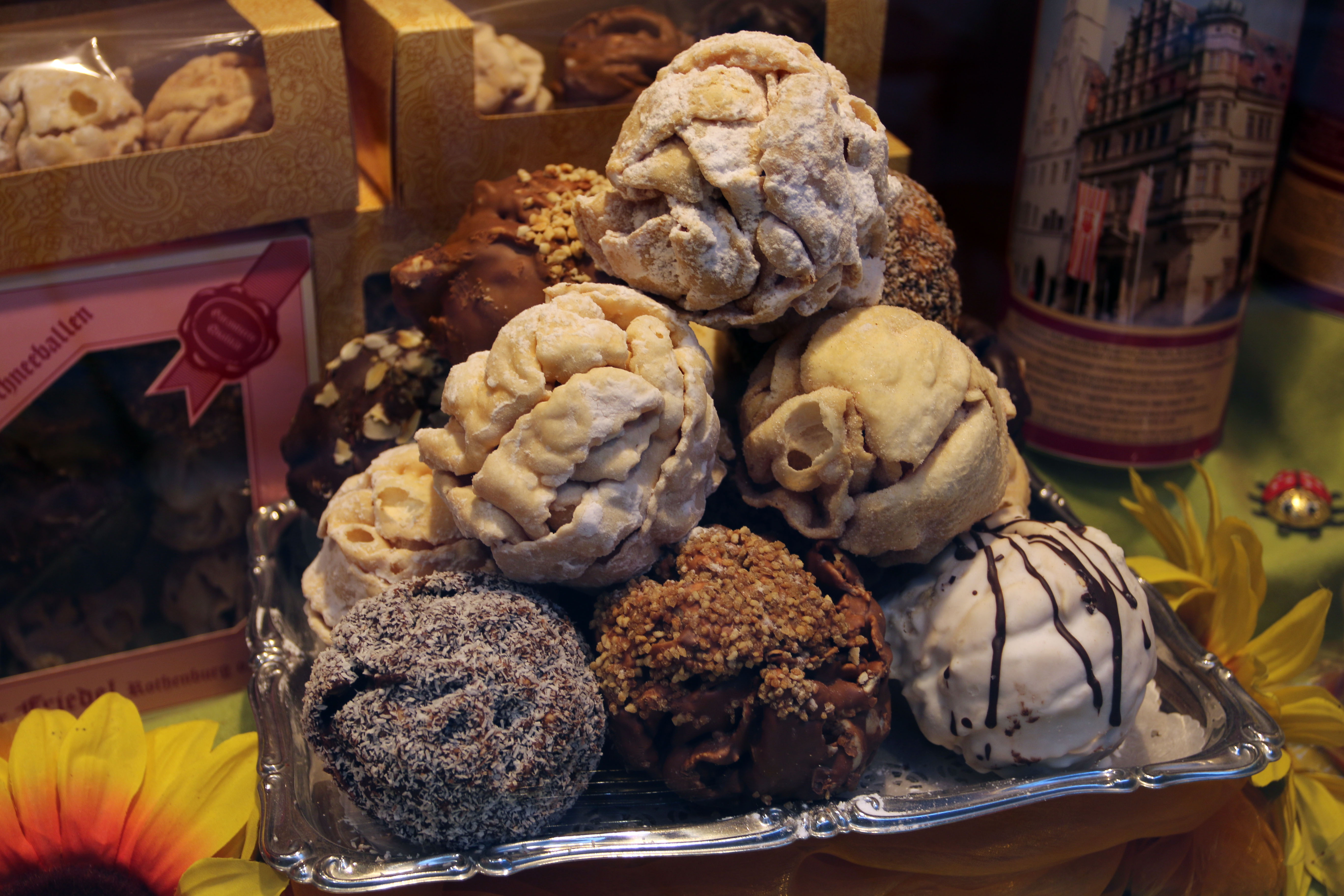 Schneballen from Christmas markets of Germany