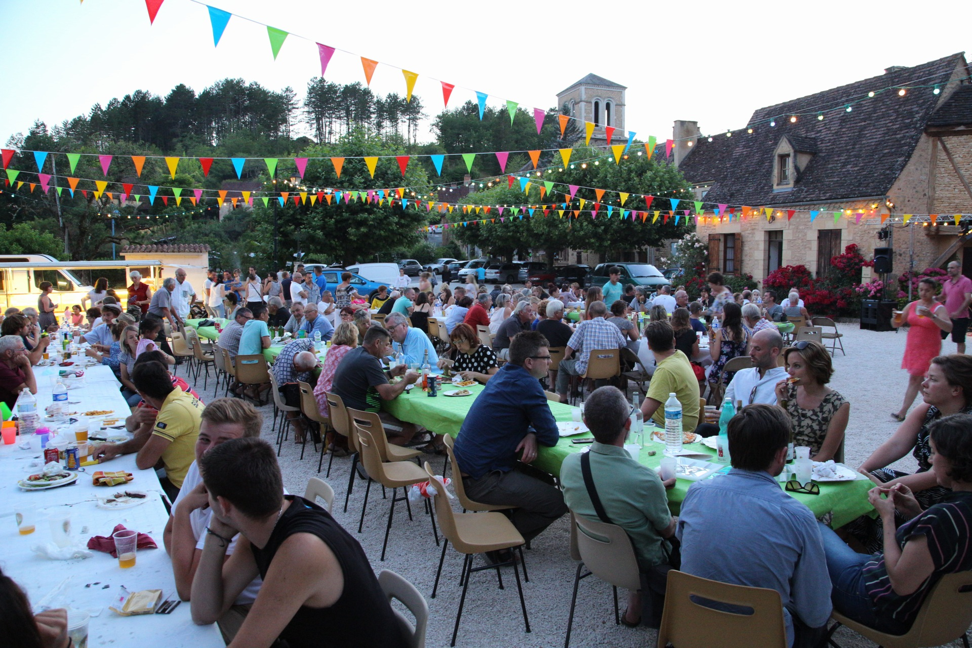 A snap from the Audrix Night Market in France