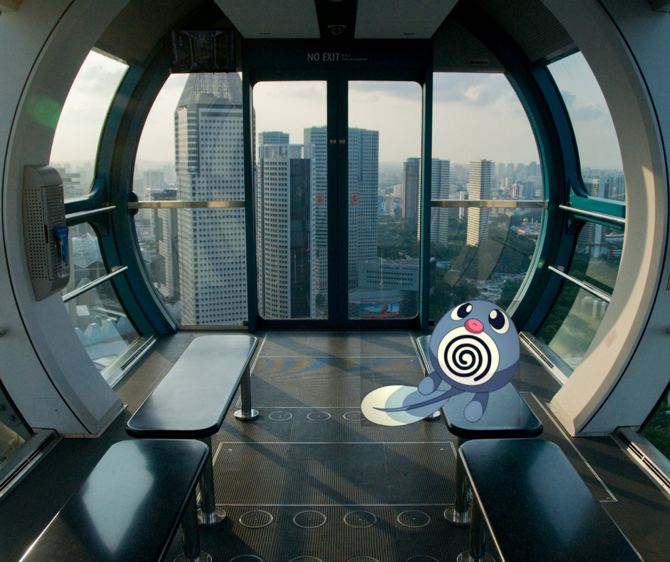 Poliwag on the Singapore Flyer
