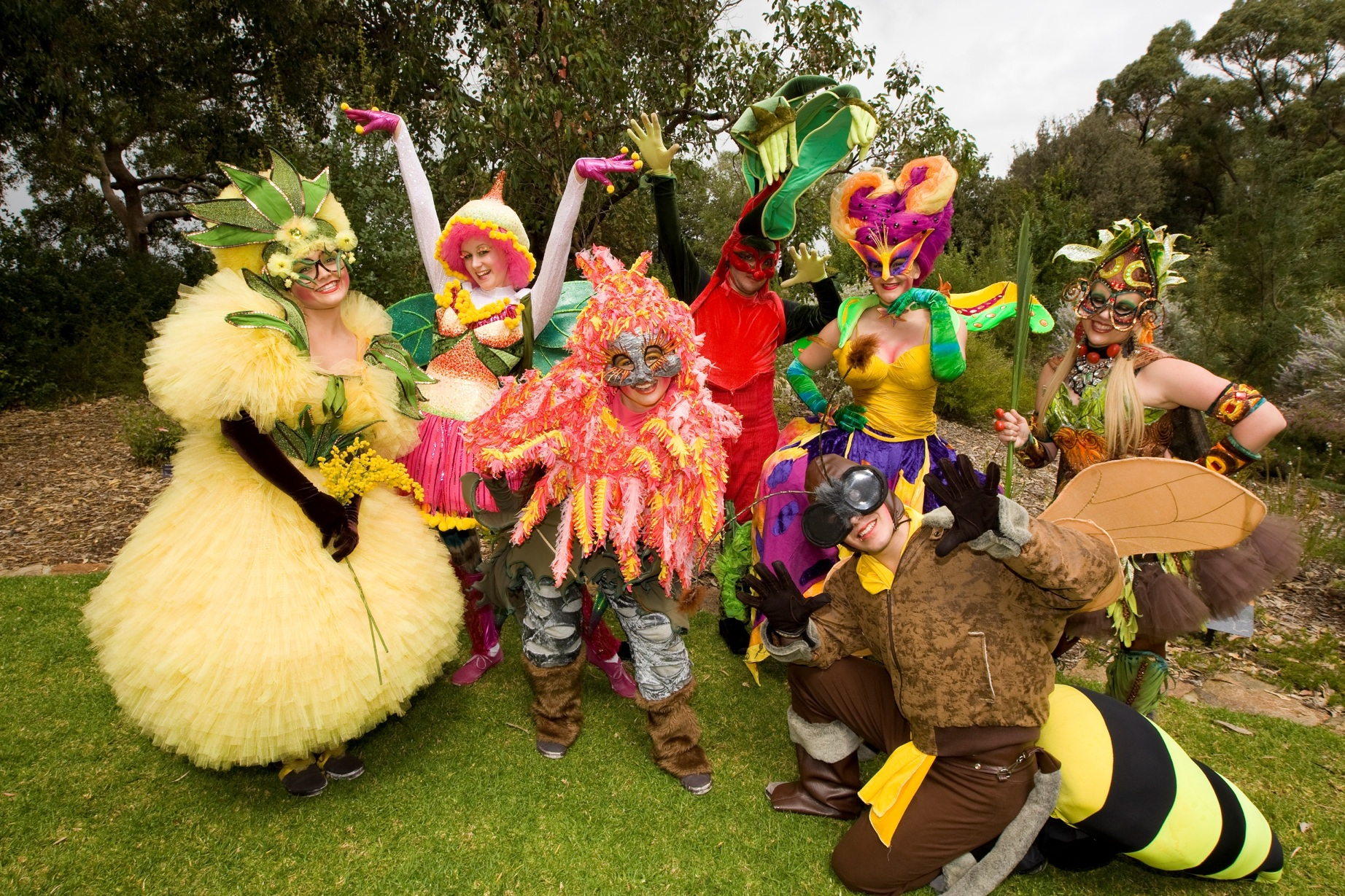 Cosplayers at the Kings Park Festival