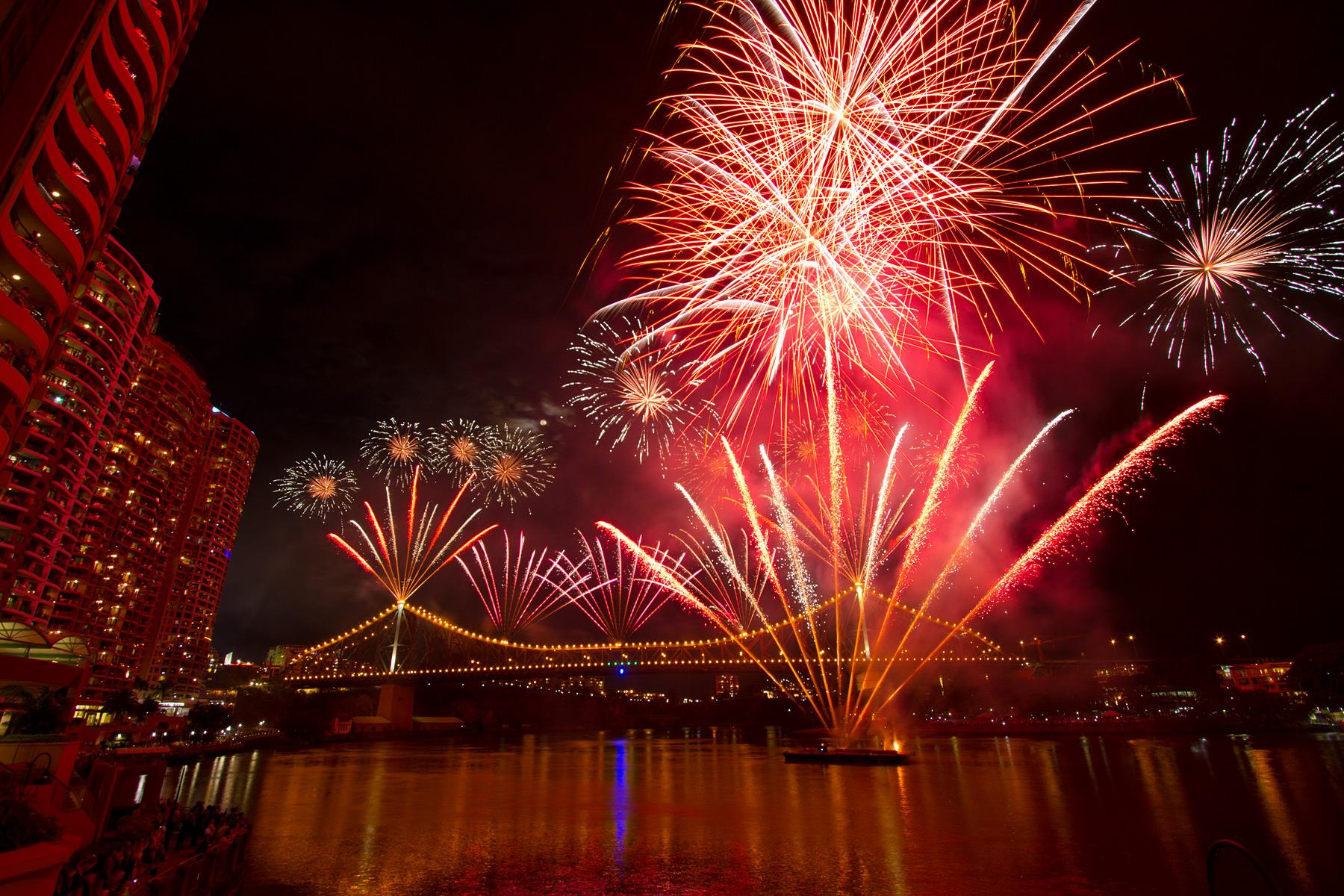 The conclusive Sunsuper Riverfire event at the Brisbane Festival