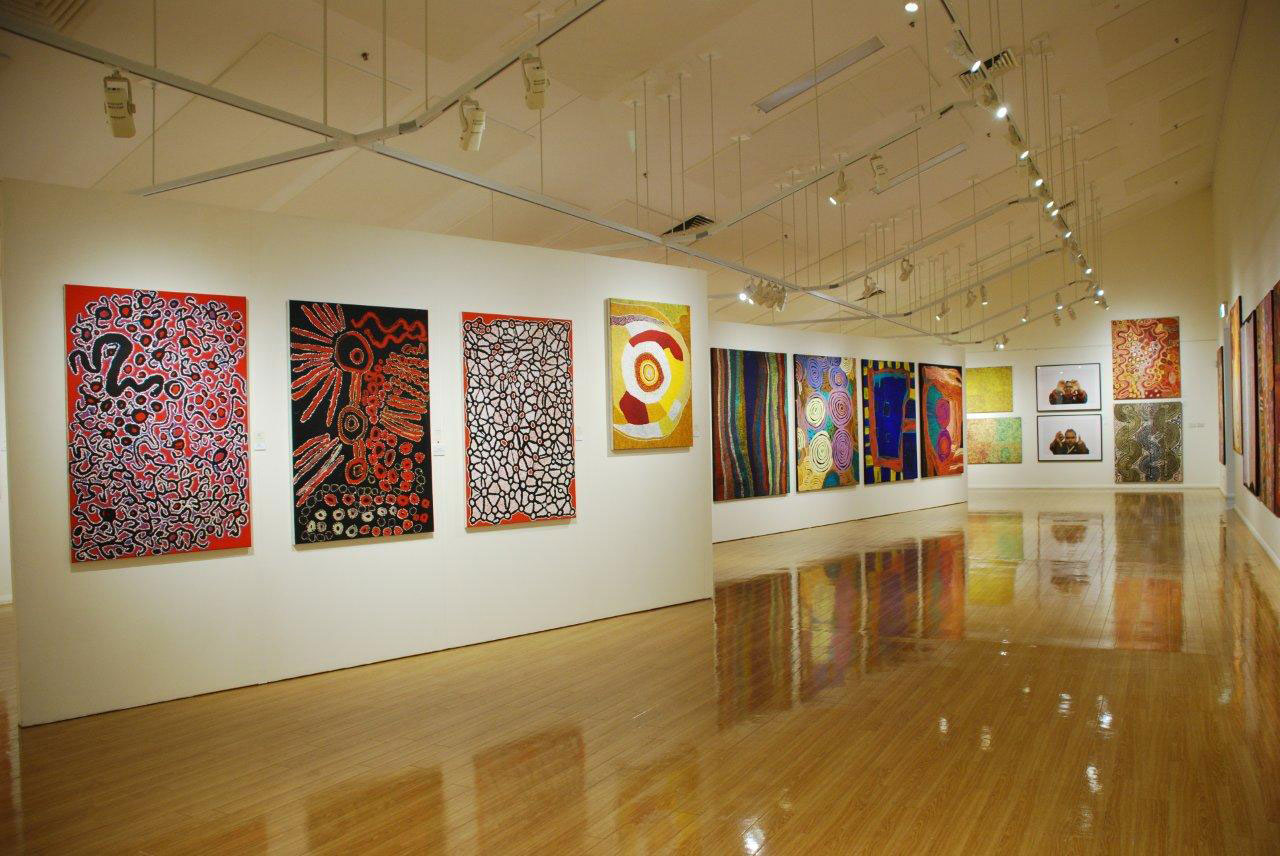 A display of the Aborginal artworks