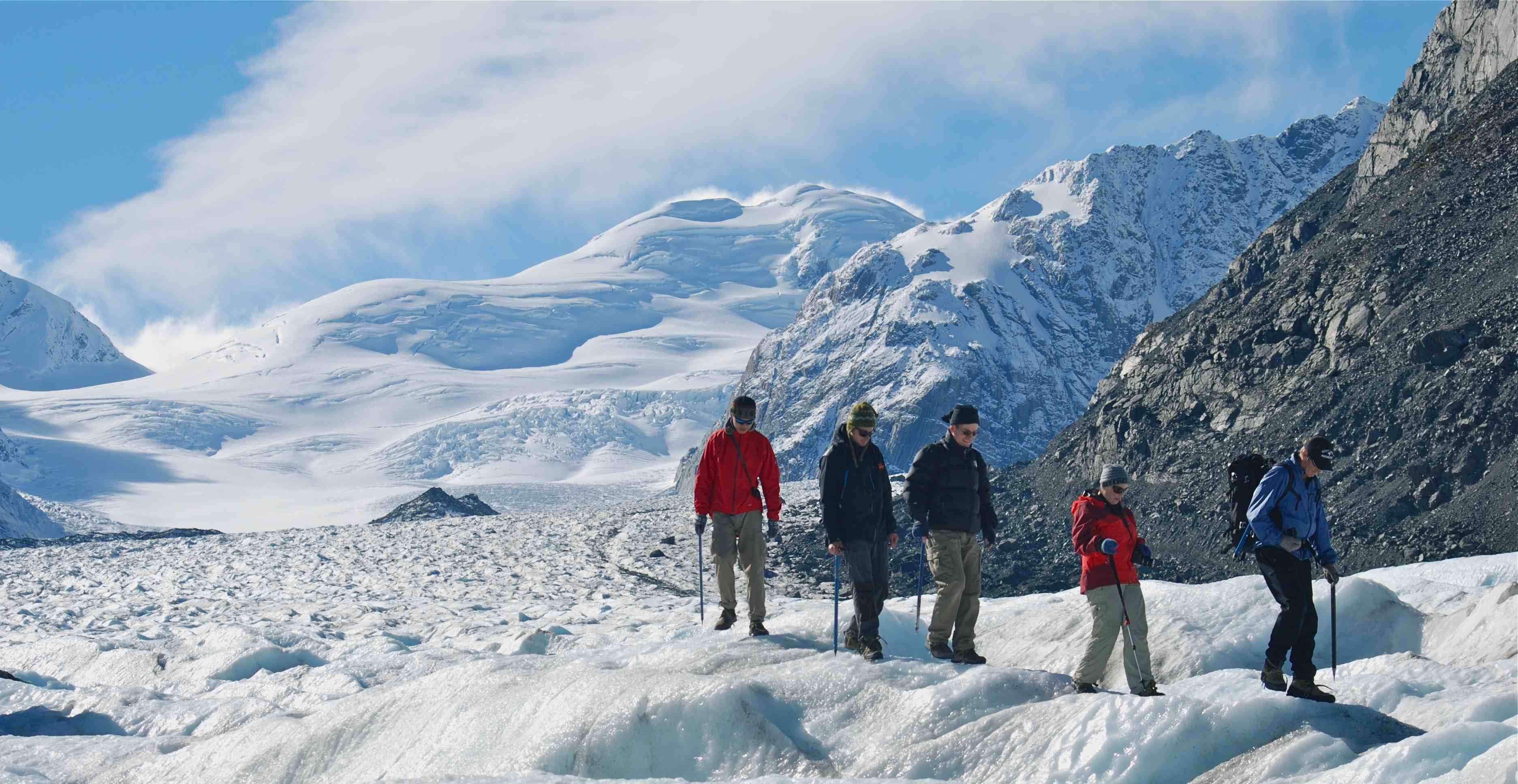 Glacier walk with family at Franz Josef glacier