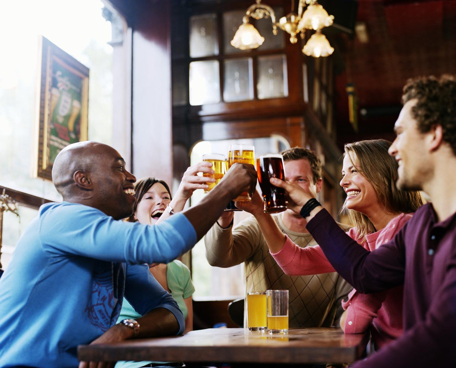 Happy hour at a bar- representative image