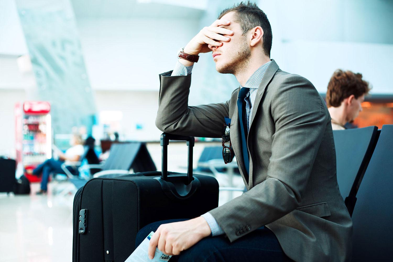 Upset over cancelled flight - representative image