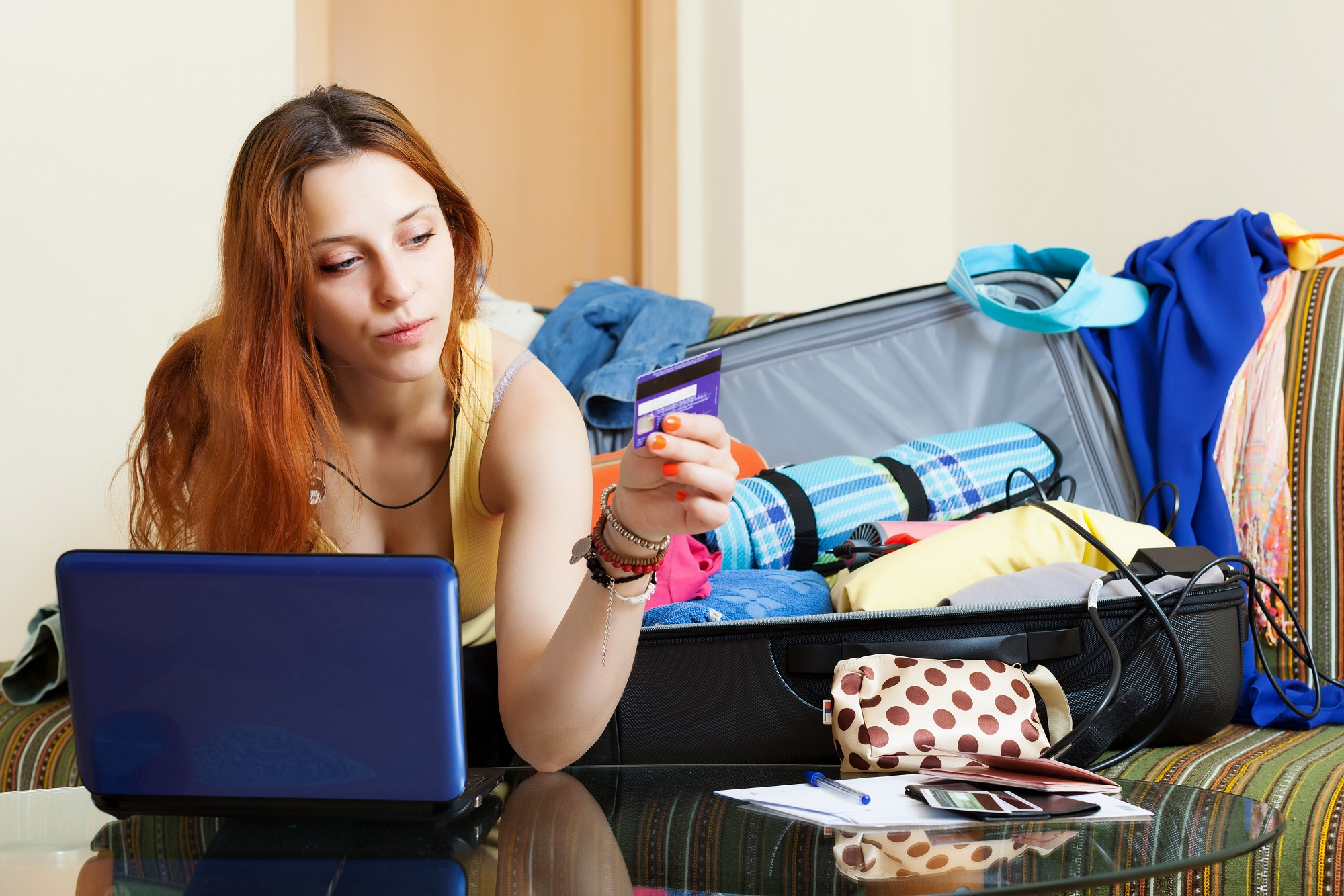 Purchasing travel insurance before packing