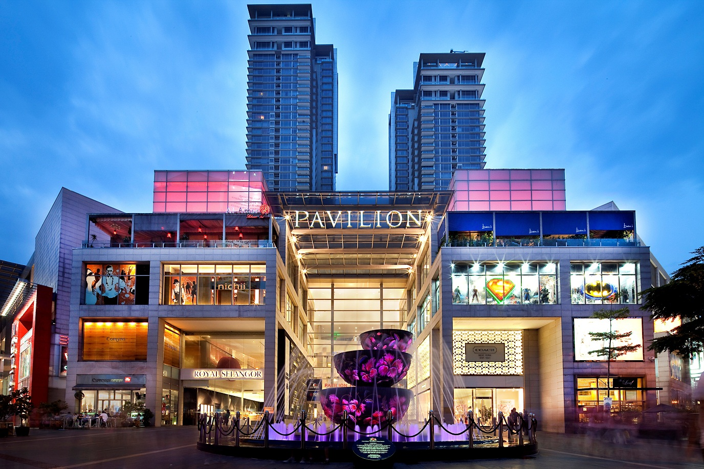 The Pavilion shopping mall