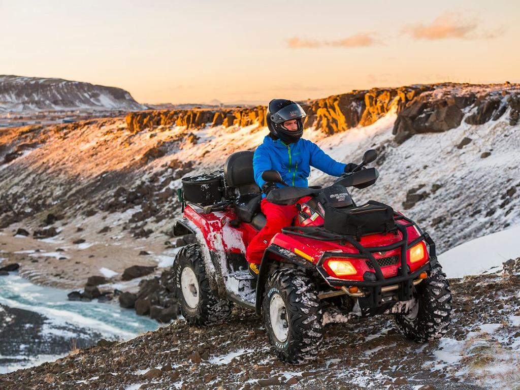 Quad biking at Iceland