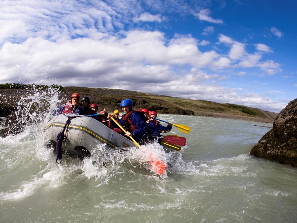 River rafting at Akureyri