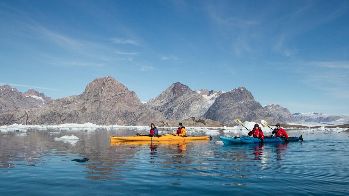 Kayaking at Isafjordur