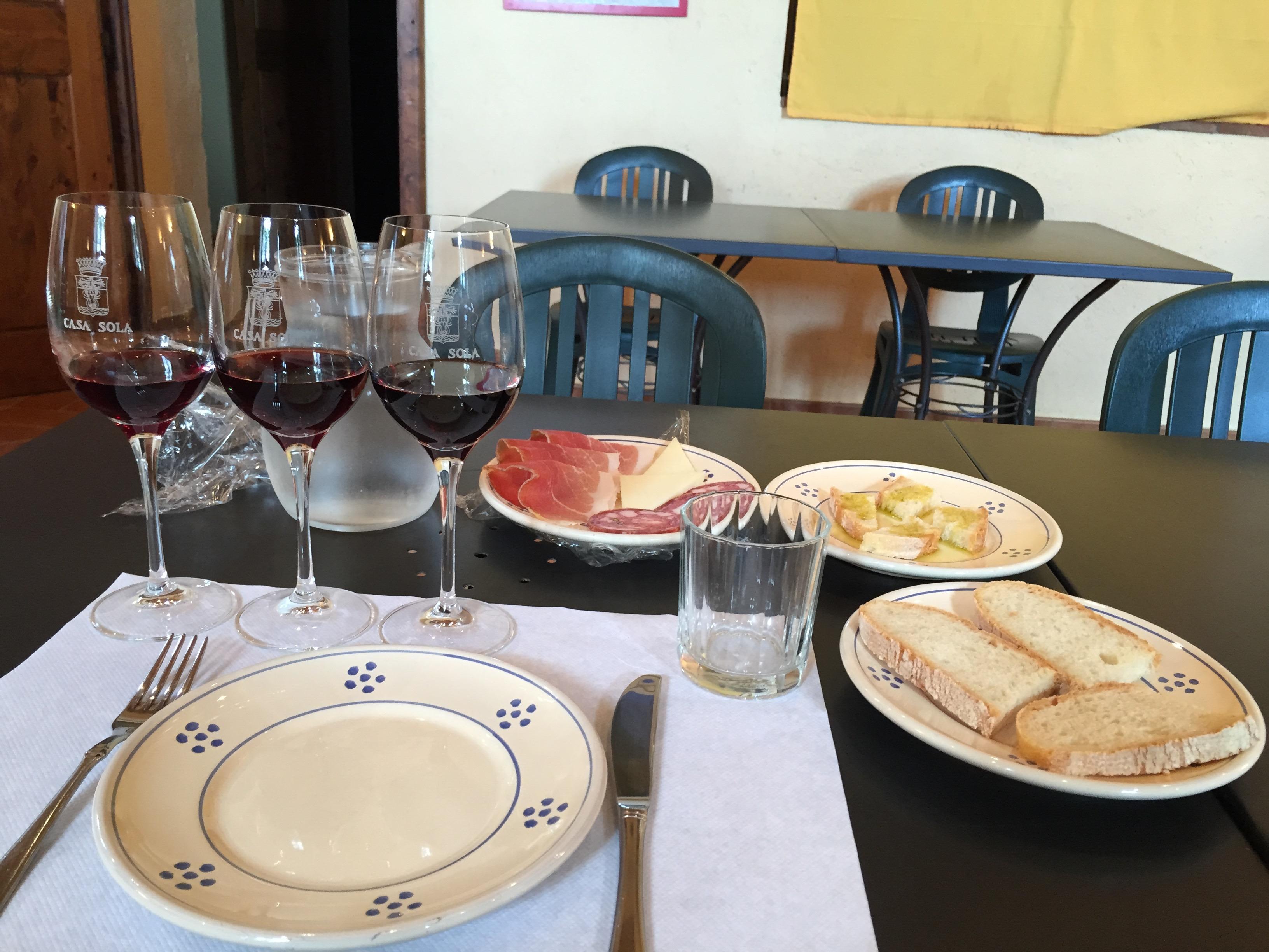 Sampling wine at Barbino Val d'Elsa