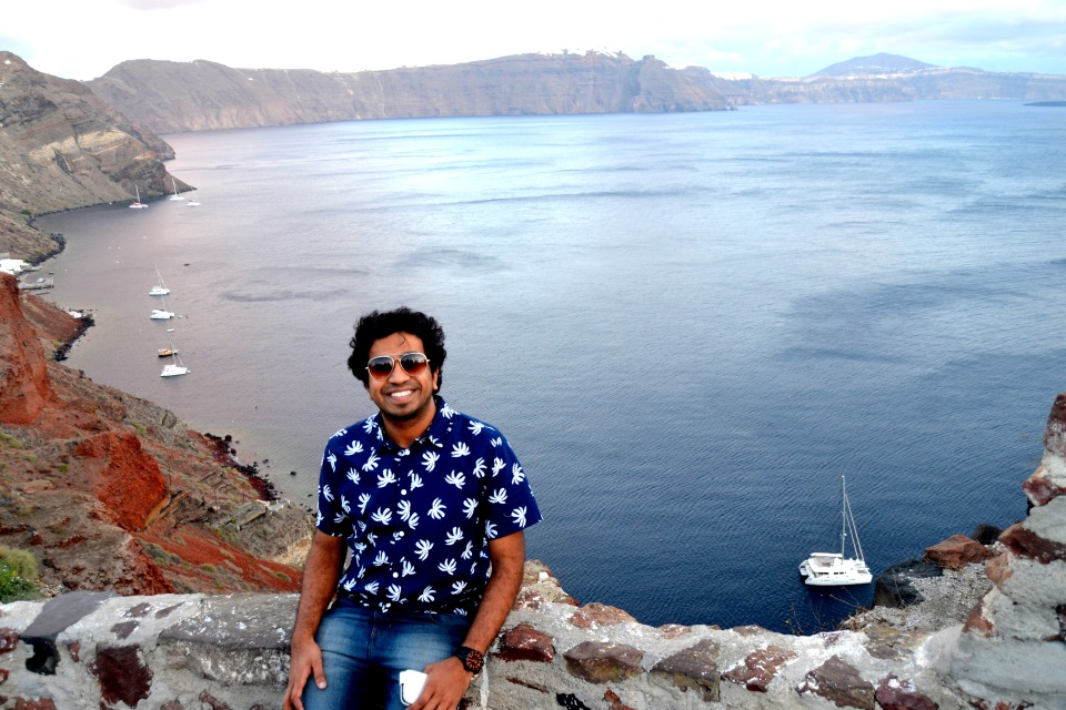 At the Oia village