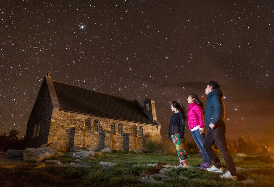 Star gazing in New Zealand
