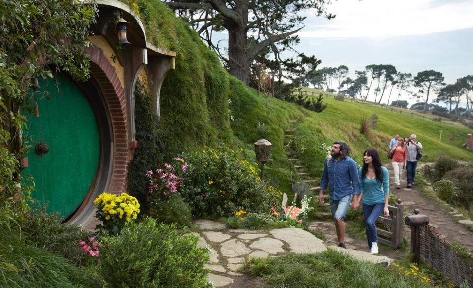 The Hobbiton film set