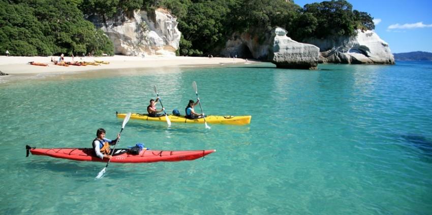 Go kayaking at the Haihei beach as a honeymoon destination in New Zealand