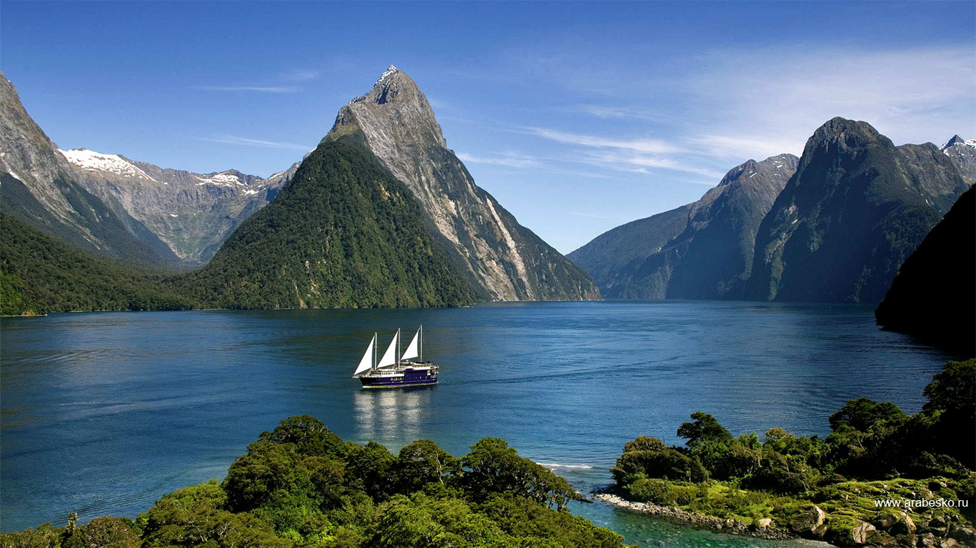 Milford Sound if you want to take Rudyard Kipling's advice for a honeymoon destination in New Zealand
