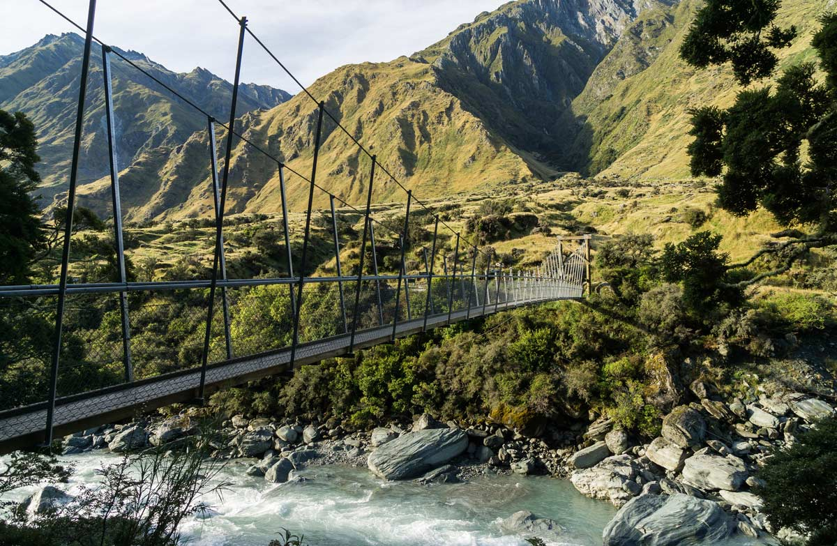 Hiking on the Rob Roy Track Honeymoon destination in New Zealand
