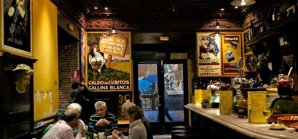 A tapas bar in Madrid