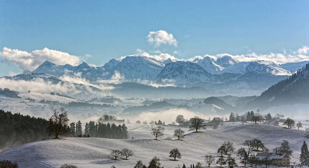 Swiss Alps with the Italian Riviera