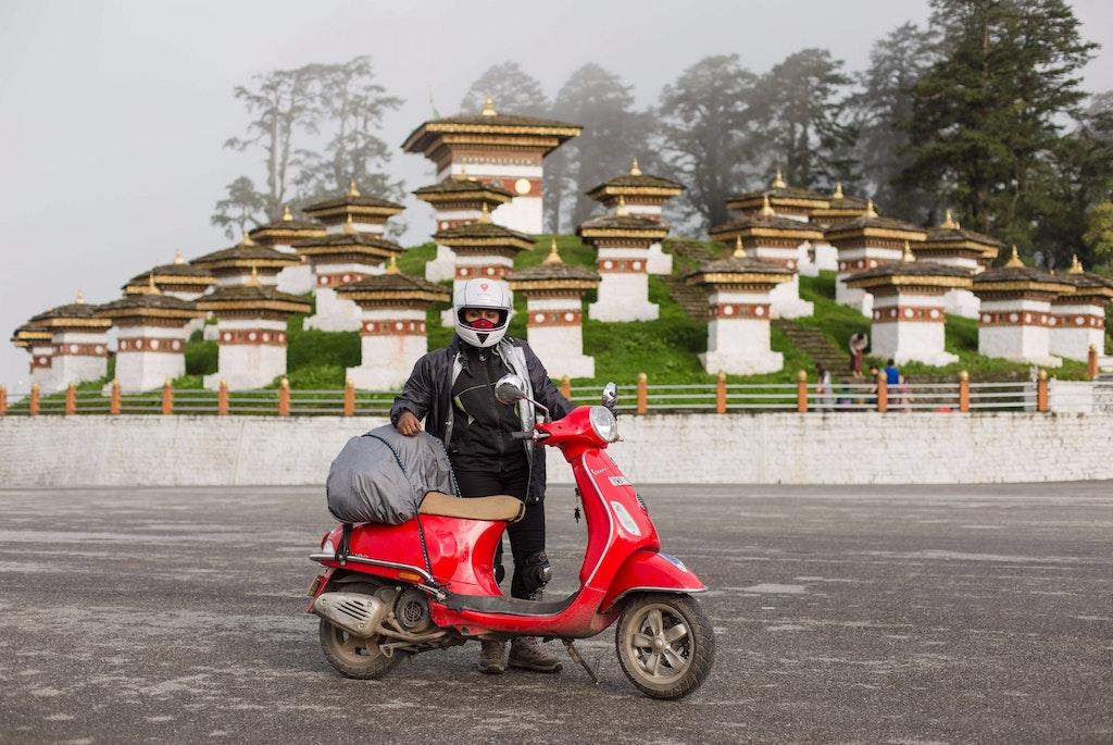 road trip to Bhutan on a vespa