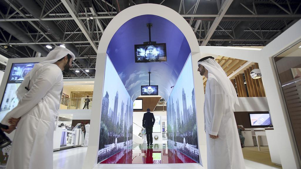 Dubai face scanning aquarium