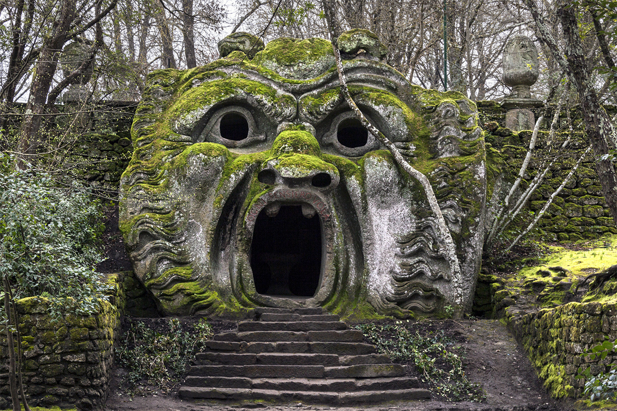 Bomarzo parco mostri, places to visit in Italy with family