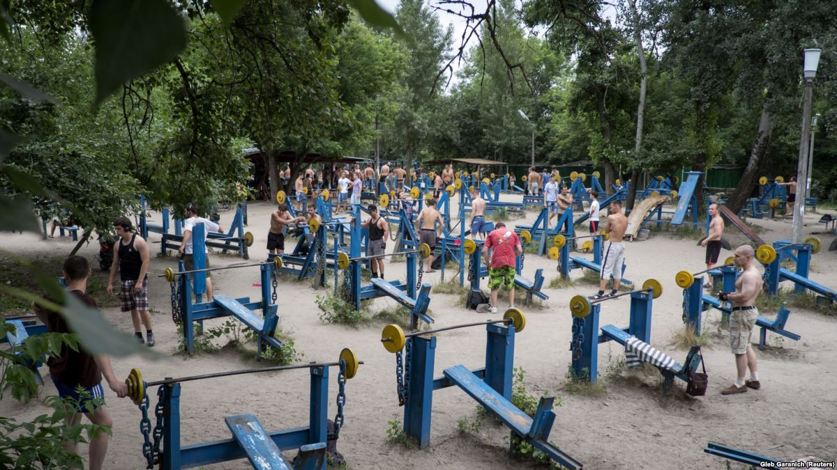 Kachalka Outdoor Gym,places to visit in Kiev