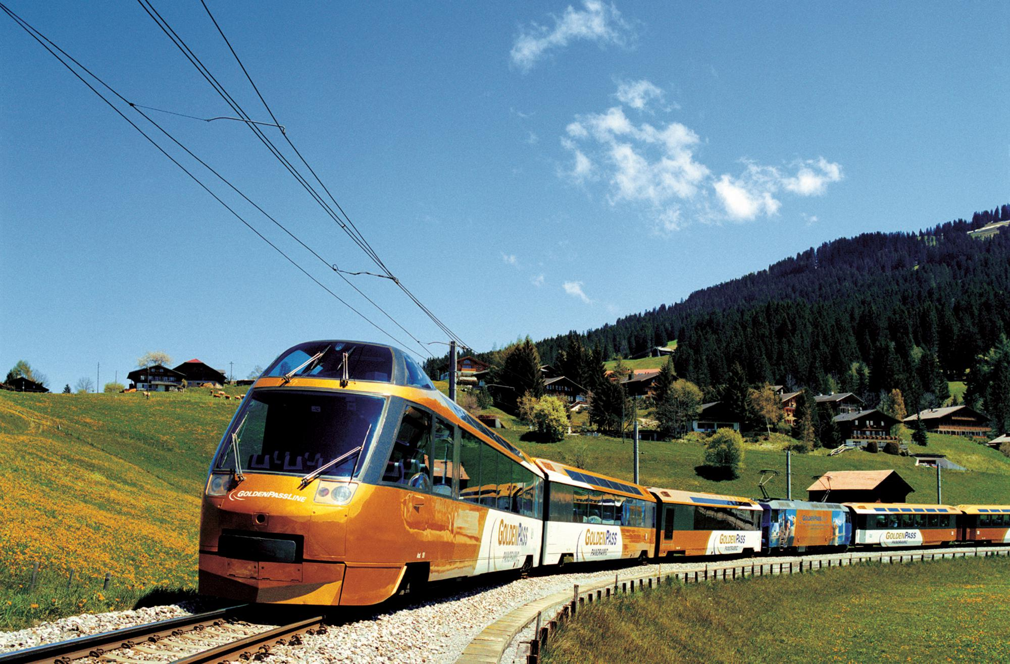 The GoldenPass line,free things to do with a Swiss Pass