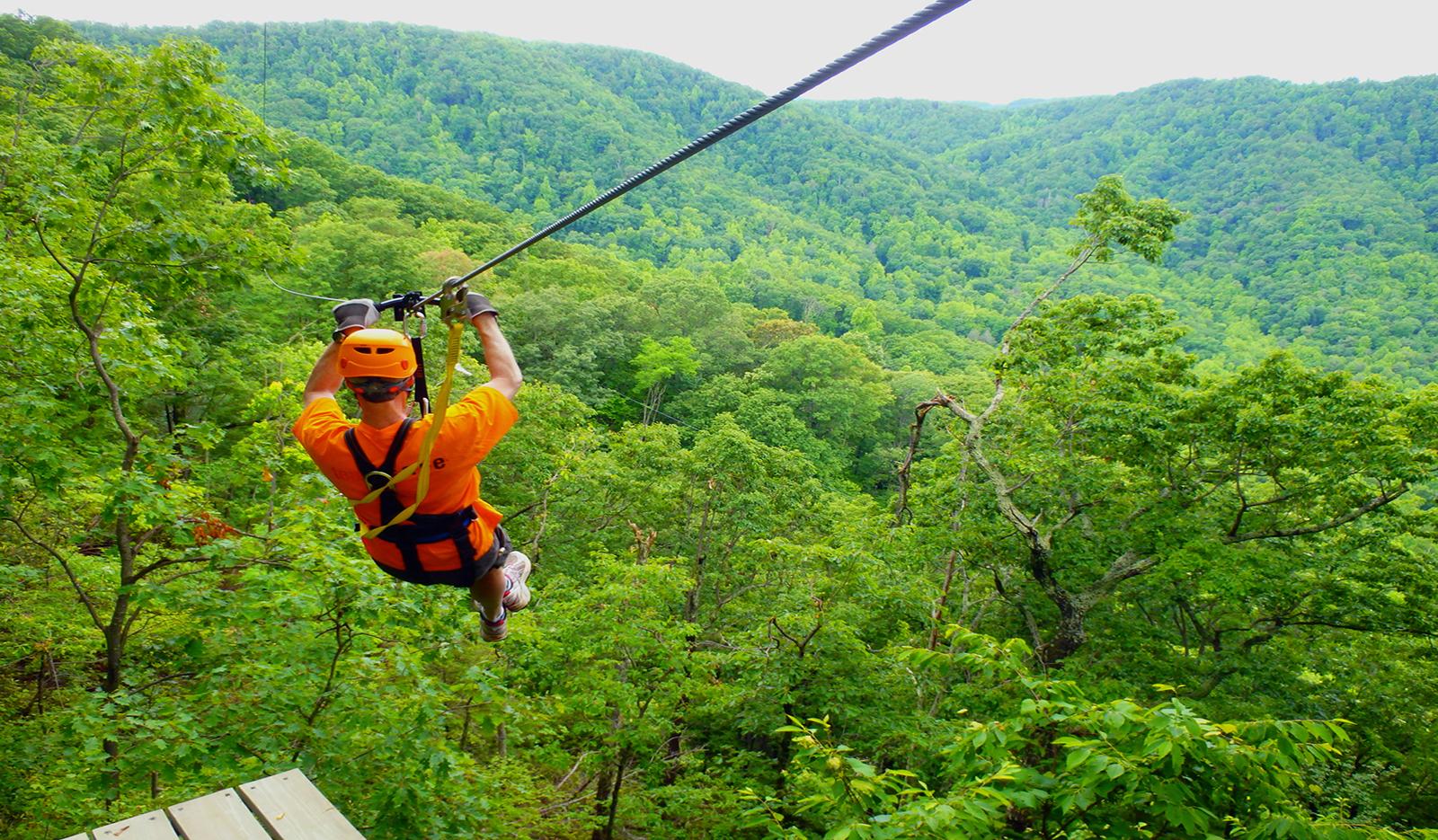 Ziplining,best adventurous activities in the UK