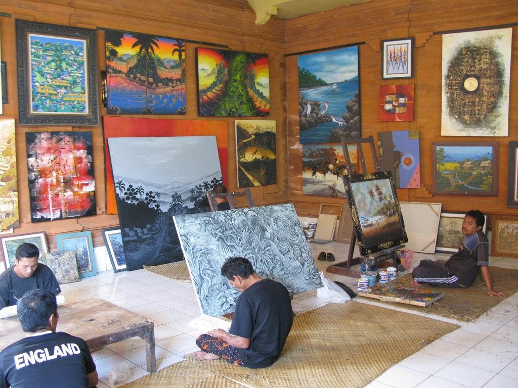Ubud local art gallery