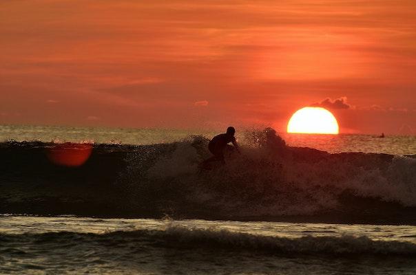 Kuta Beach Surfing
