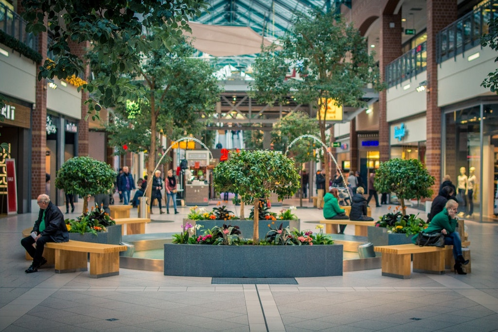 Shopping mall entrance