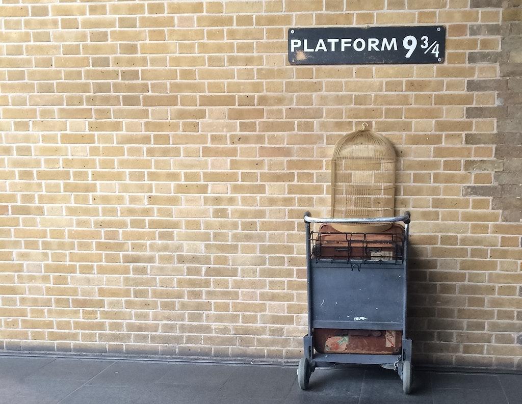 King's Cross Station- Platform 9 3/4 quarters
