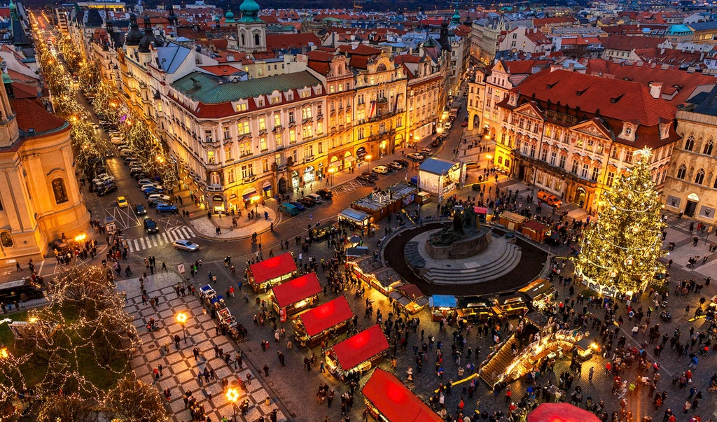Old Town Square Christmas market Prague