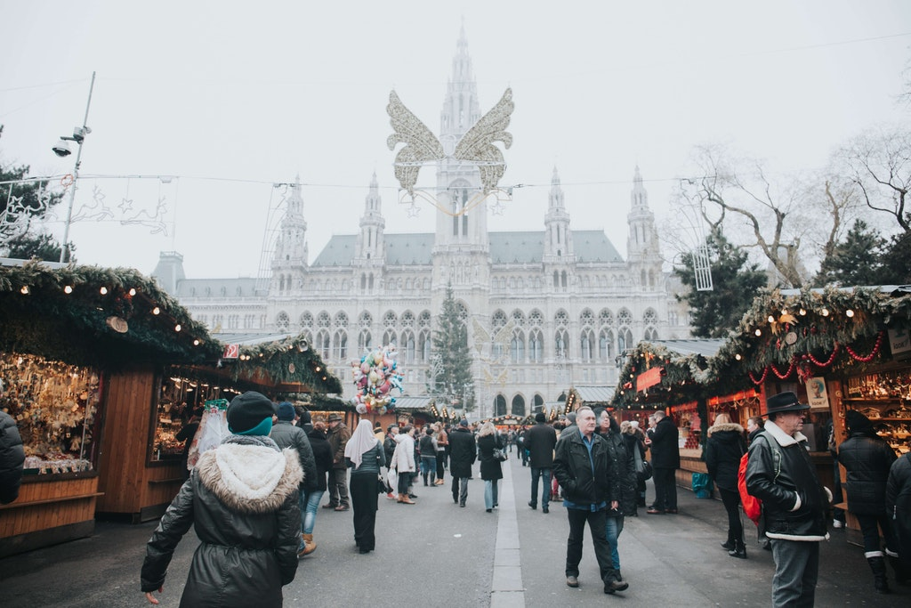 Vienna Christmas Market in Europe