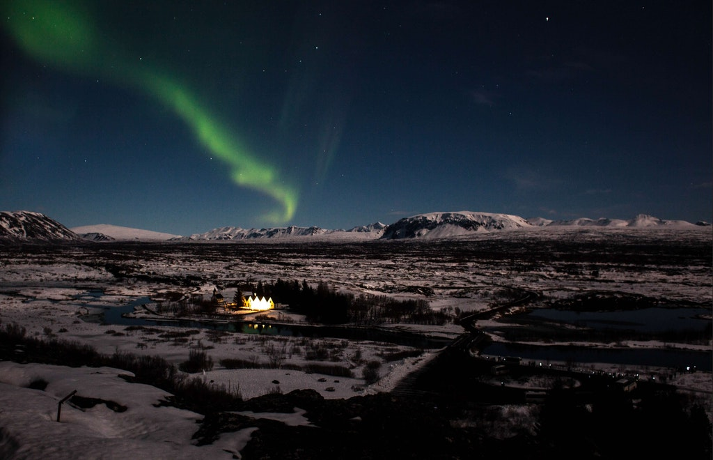 Thingvellir National Park, Northern Lights in Iceland