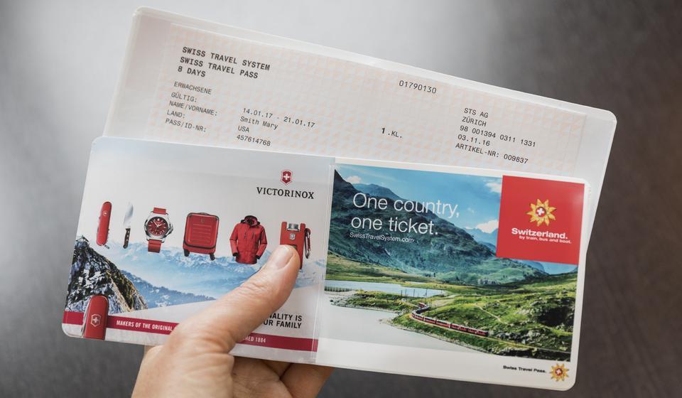 Swiss travel pass ticket