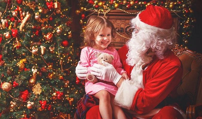 Santa and smiling baby