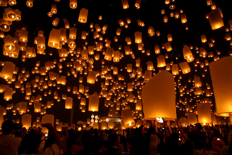Yi Peng Lantern Festival, Romantic Honeymoon Destinations in Thailand
