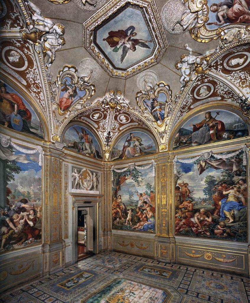 The interiors of Palazzo Pitti
