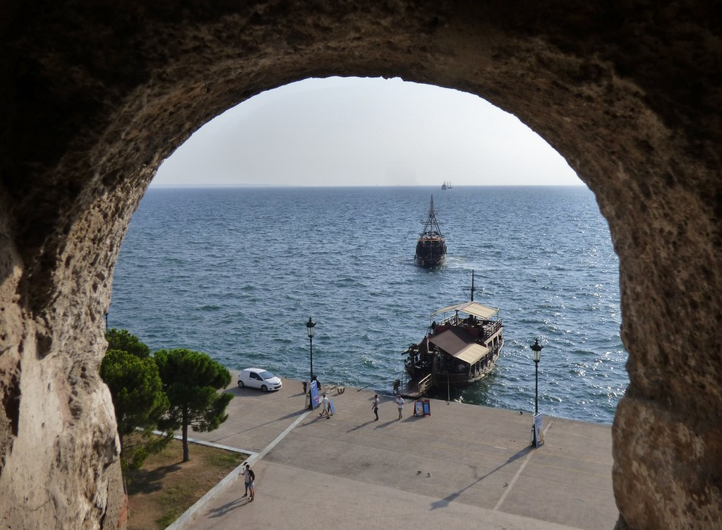 view from the interior of the white tower