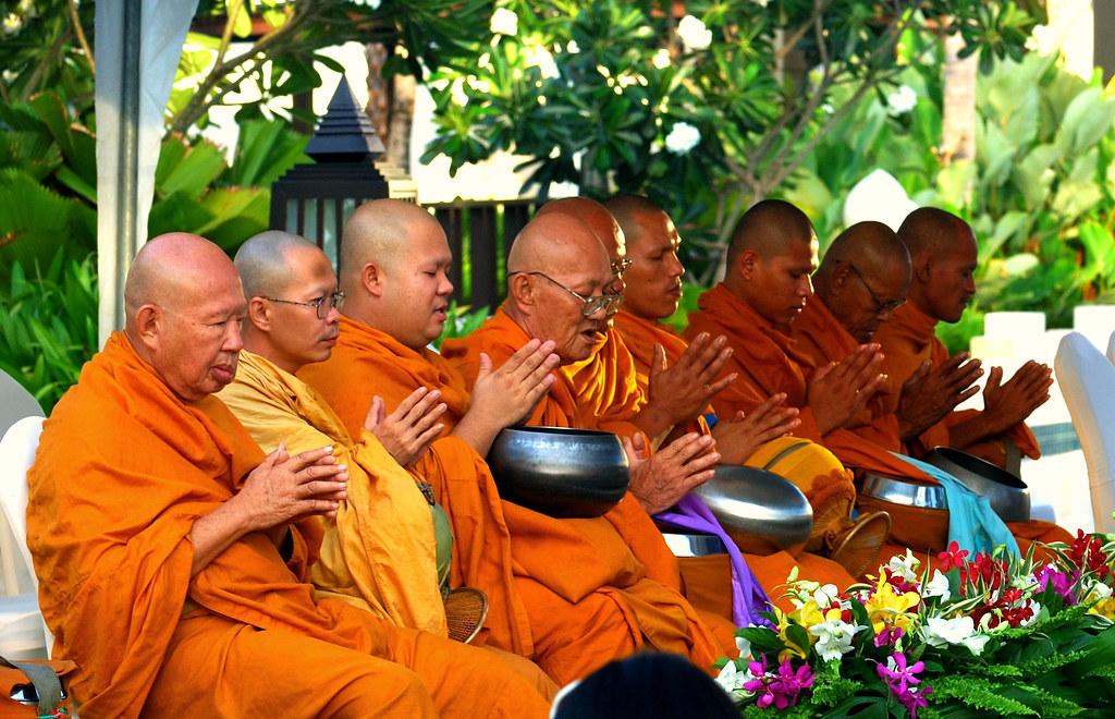 Monks during Songkran festival